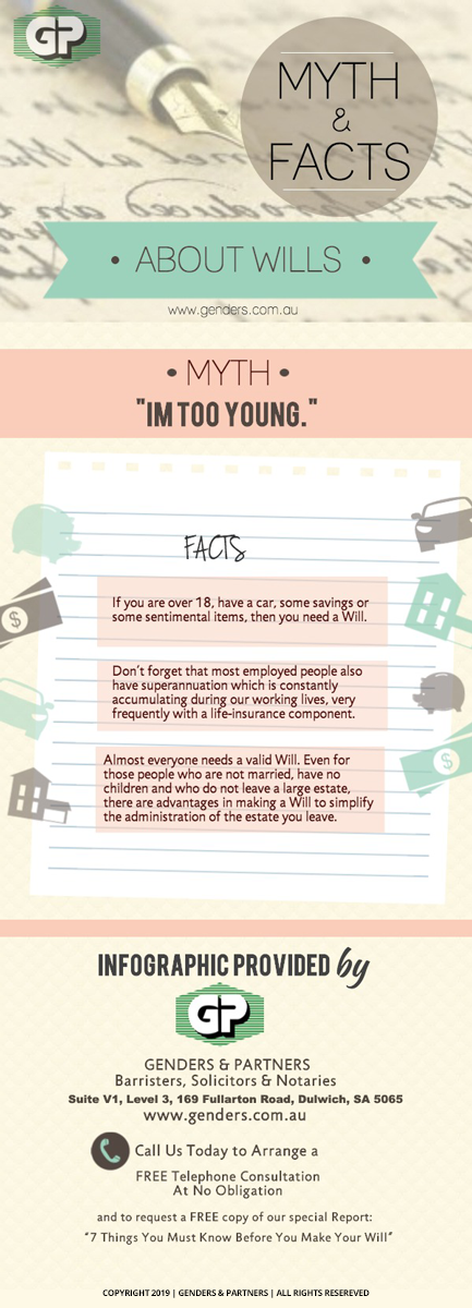 "Myth and Facts About Wills Infographic: ""I'm Too Young."""