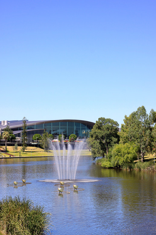 Adelaide Convention Centre along the banks of the River Torrens