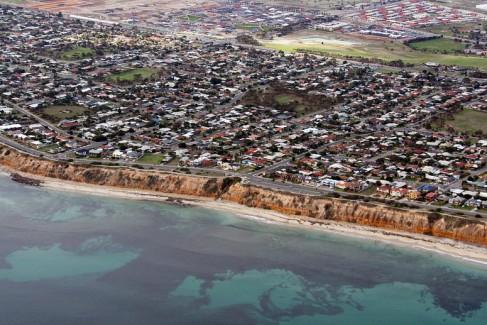Aerial view of Aldinga Beach, Adelaide, Australia