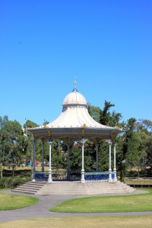Elder Park Rotunda along the River Torrens, Adelaide, Australia