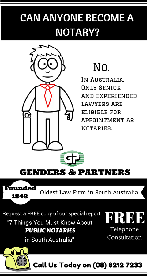 Genders and Partners | Can anyone become a Notary? - Lawyer Adelaide