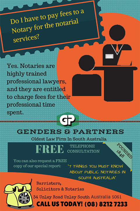 Genders and Partners | Do I Have To Pay Fees To A Notary For The Notarial Services? - Lawyer Adelaide