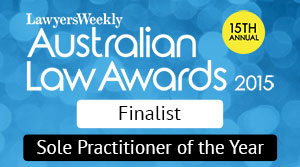 Genders and Partners | Finalist, Sole Practitioner of the Year - Lawyer Adelaide
