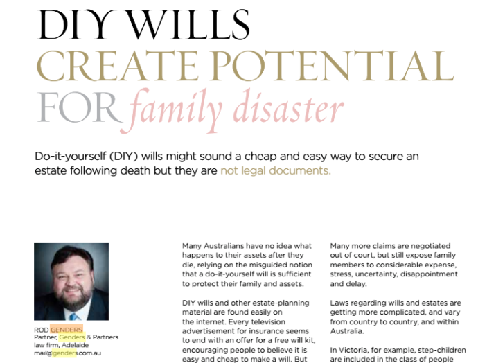 In the media genders and partner diy wills create potential for family disaster click here to download the whole story solutioingenieria Choice Image