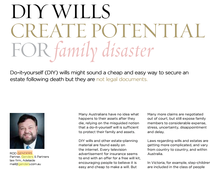 DIY Wills Create Potential For Family Disaster