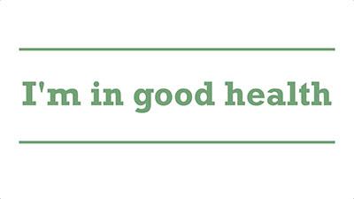 I'm in good health | Genders - Adelaide