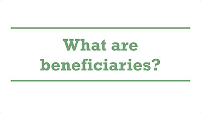 What are beneficiaries? | Genders - Adelaide