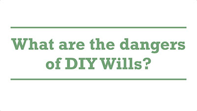 What are the dangers of DIY Wills? | Genders - Adelaide