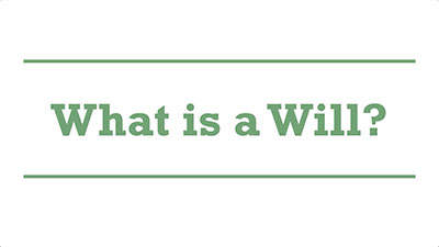 What is a Will?| Genders - Adelaide