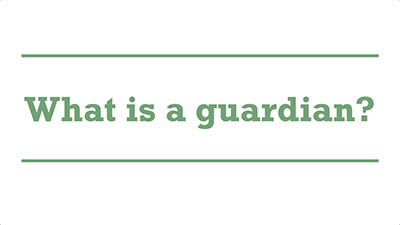 What is a guardian? | Genders - Adelaide