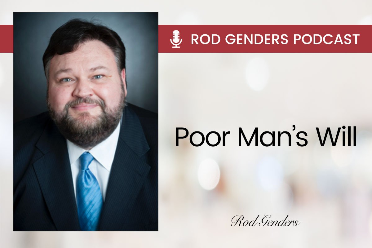 poor mans will podcast by rod genders
