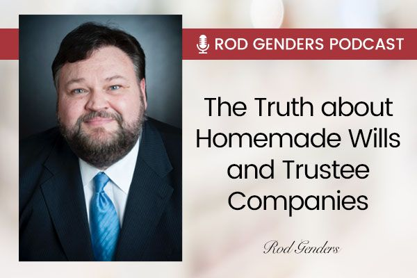 The Truth about Homemade Wills and Trustee Companies Banner