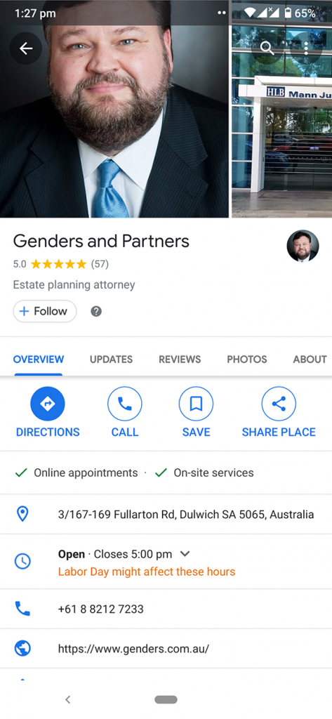 google maps review screenshot 2