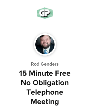 15 Minute Free No Obligation Telephone Meeting banner